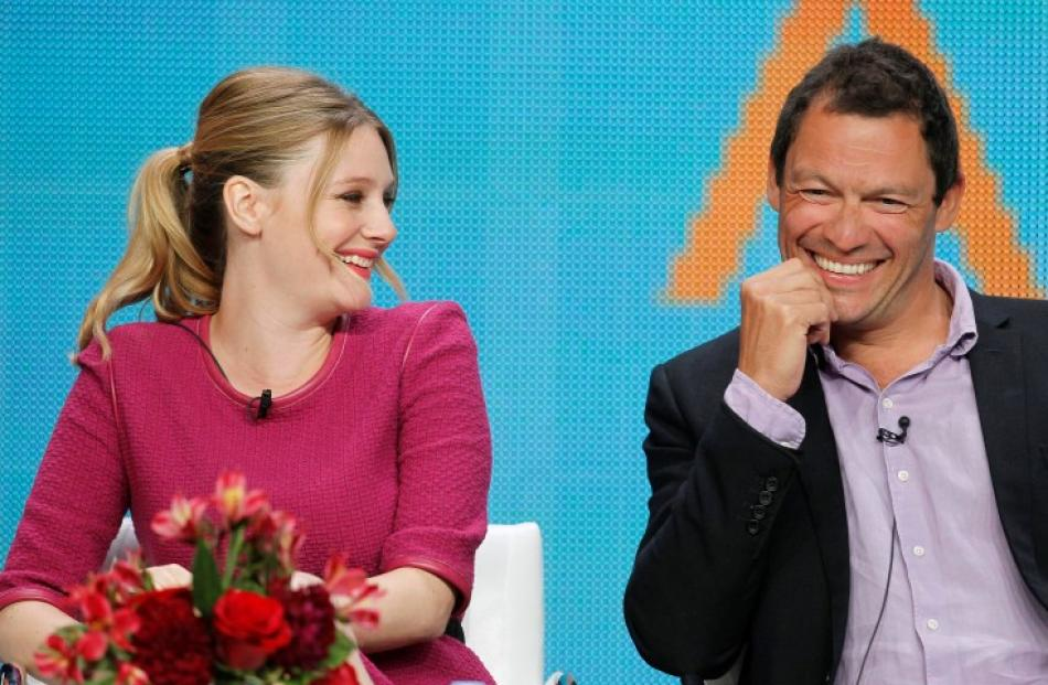 Romola Garai (L) and Dominic West of the BBC America series 'The Hour' speak at the Television...