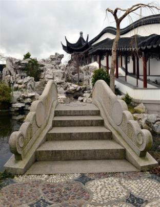 Ornate stairs are among the garden features built  in China, then deconstructed and shipped to...