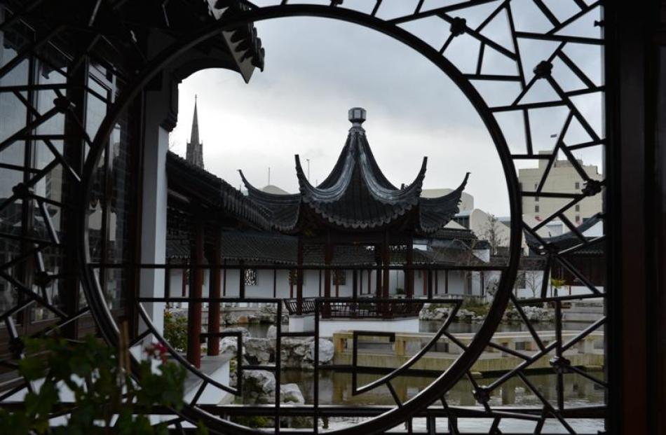 Views like that of the pavilion inside the Dunedin Chinese Garden have helped attract 183,000...