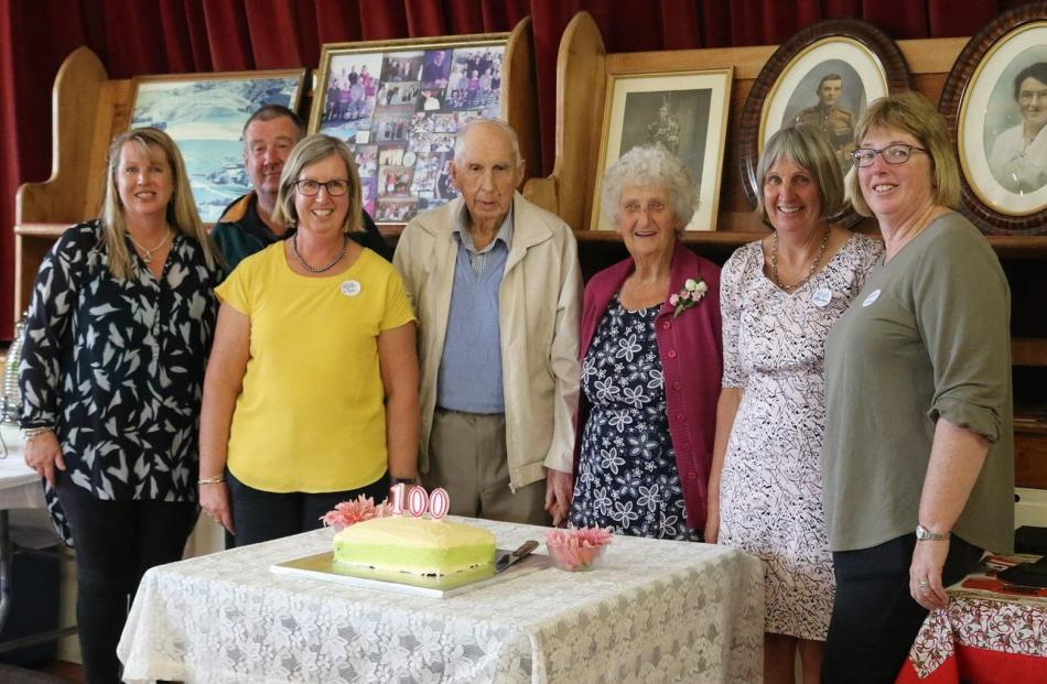 The Frame family celebrate the centenary of farming Burnbank in Ettrick Hall on April 10; (from...