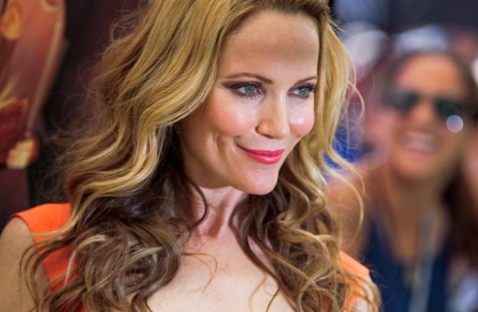 Actress Leslie Mann arrives for Focus Features' 'ParaNorman' premiere at the Globe Theatre at...