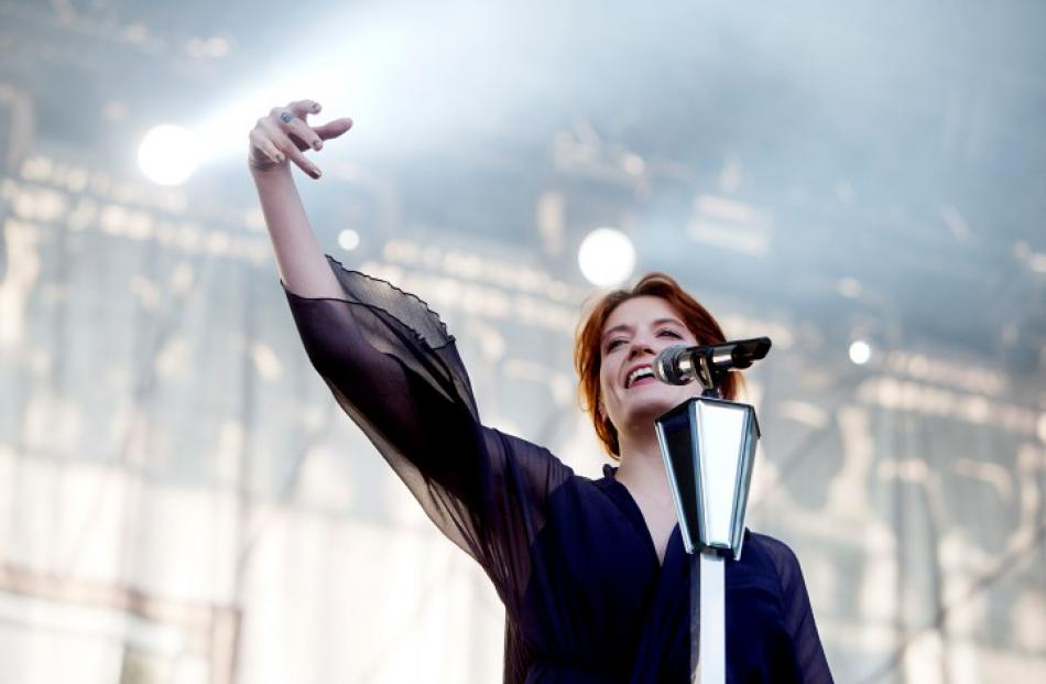 Florence Welch of the band Florence and the Machine performs at the Oya music festival in Oslo,...