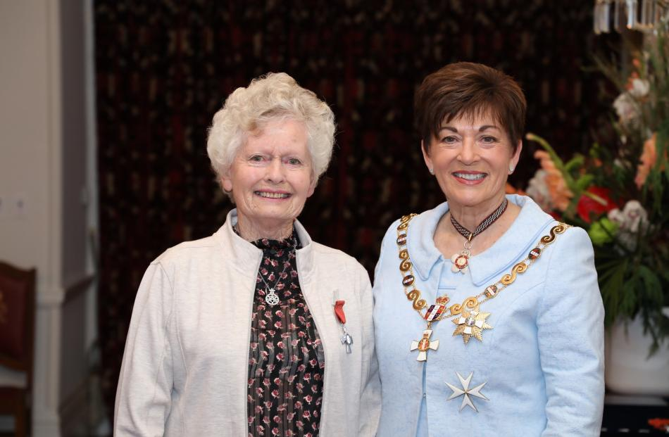 Marilyn Cassidy and Dame Patsy. Photo: Government House