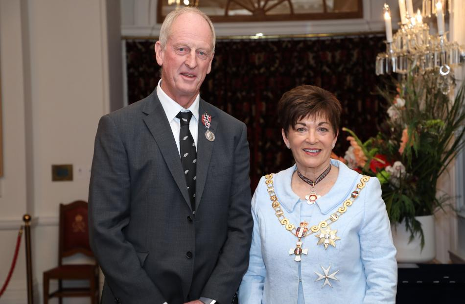 Stuart Paterson and Governor-General Dame Patsy Reddy. Photo: Government House