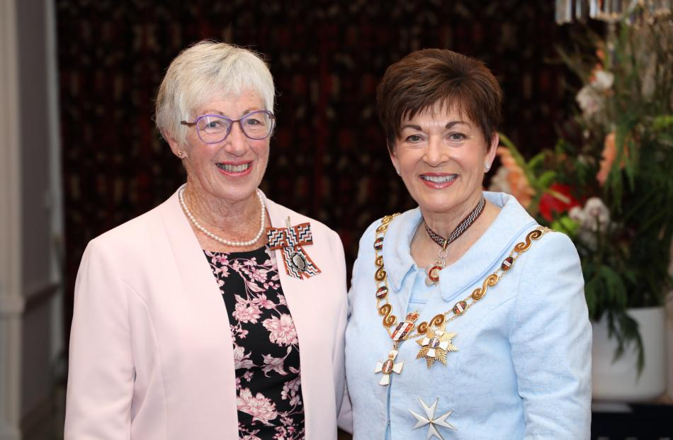 Fran Rawling with Dame Patsy. Photo: Government House
