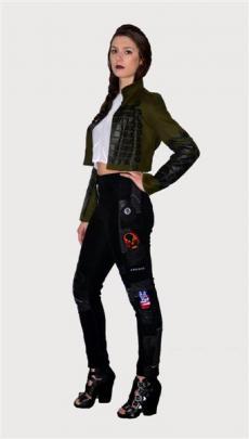 Biker Junkie pants, Nico top and Hendrix jacket.