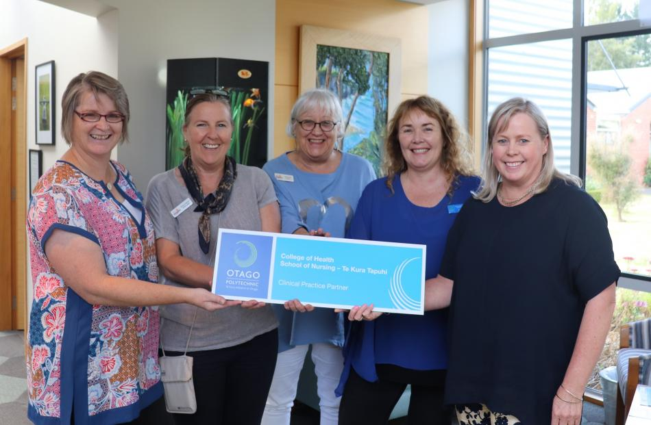 Otago Community Hospice provides teaching and clinical placements for Otago Polytechnic nursing...