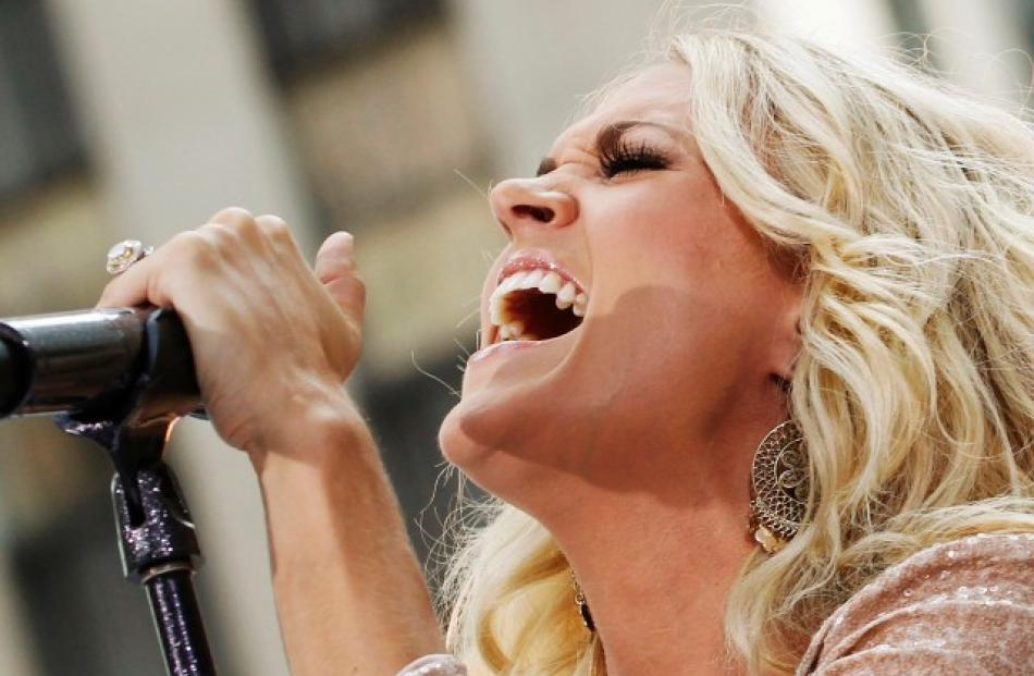 Singer Carrie Underwood performs on NBC's 'Today' show in New York. REUTERS/Brendan McDermid