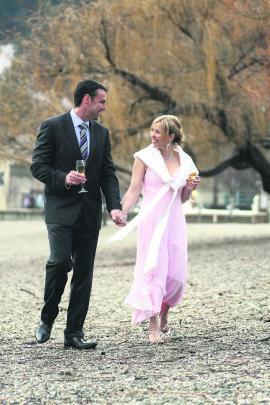 Richard and Vanessa Mills, who were married at The Boathouse Restaurant, Queenstown. SUE WILLIAMS...