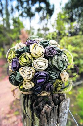 The bouquet of Nikki Mackay, who married Craig in the Caitlins. ASPIRING PHOTOGRAPHY.