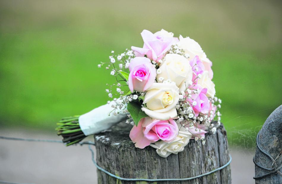 The bouquet of Cheryl Harvey, who married Tori Moeke. 
