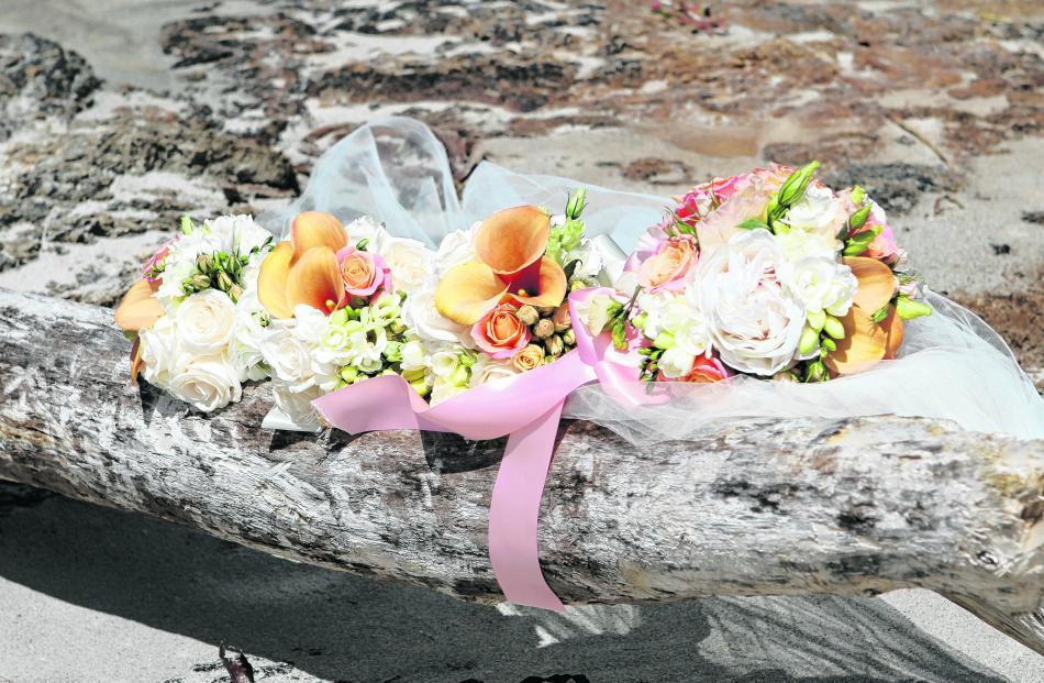 The flowers of Madelene Kinraid, who married Steven Turnbull in Dunedin. EYE SPY PHOTOGRAPHY.