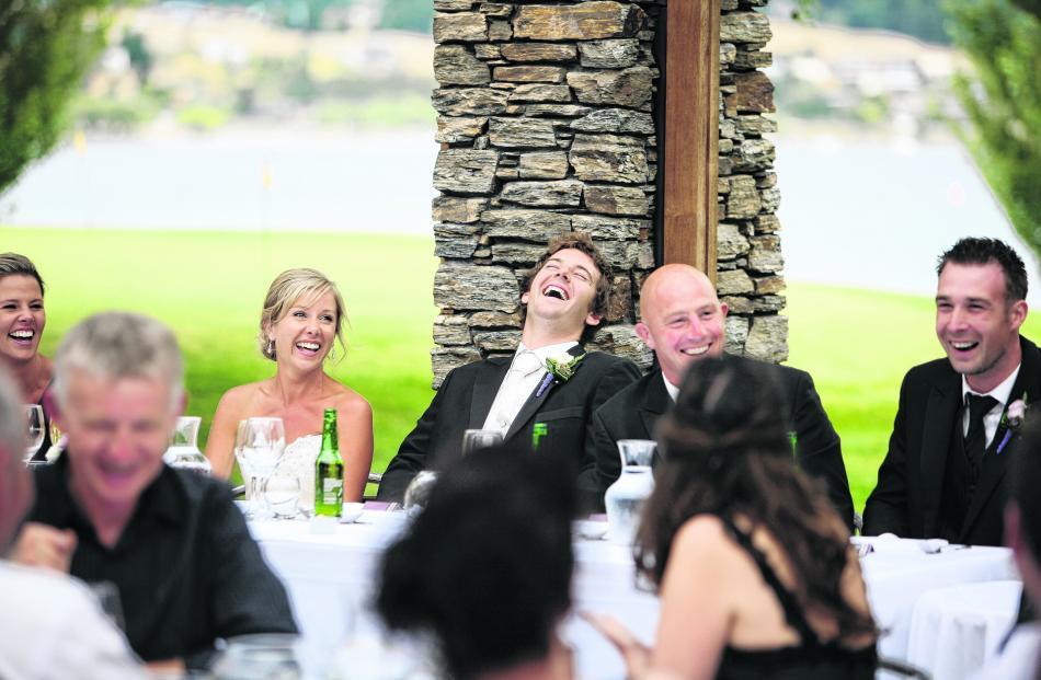 Melissa Harris and Ben McFarlane at their reception at Edgewater, Wanaka. CARMEN HANCOCK...