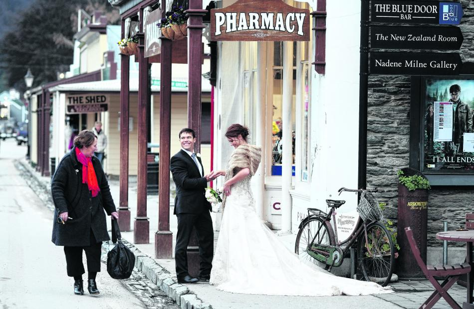 Married in Queenstown in July and prictured in Arrowtown are Richard Trembath and Julia Walsh....