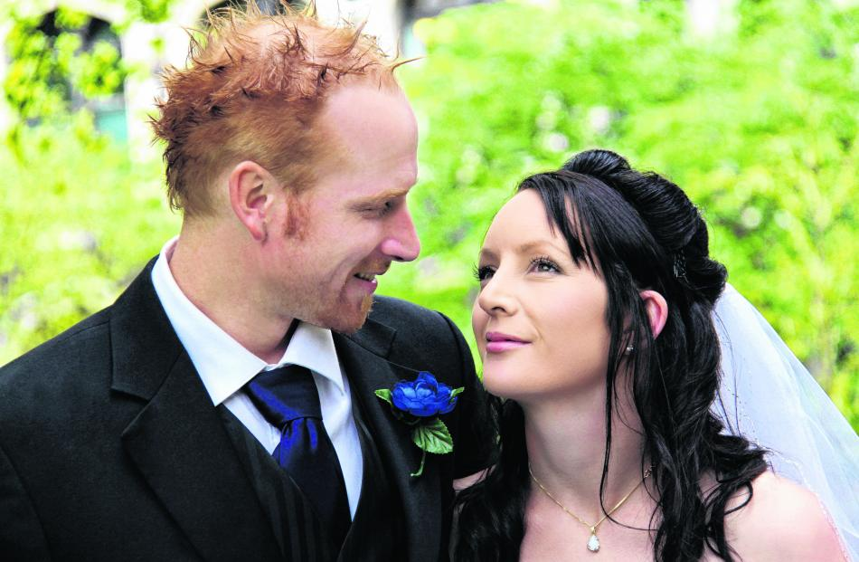 Clinton and Rebecca Bates celebrated their wedding at Mosgiel last October. GILLIES PHOTOGRAPHY.