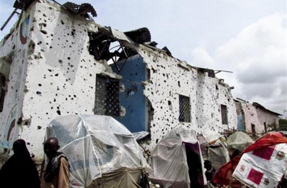 Much of Mogadishu's buildings and infrastructure have been destroyed by many years of civil war....