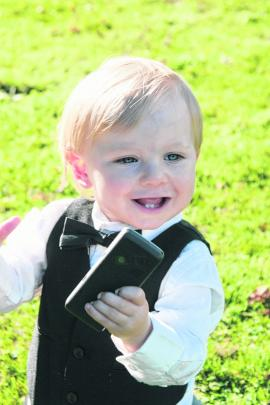 Pageboy Lochie, son of Brent Munro and Jackie Taylor, at the couple's Easter wedding. MOIRA CLARK...