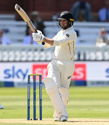 Devon Conway on the way to 200 on test debut. Photo: Getty Images