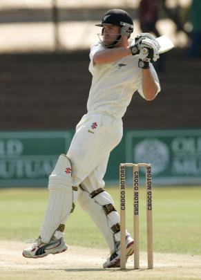 Lou Vincent plays a pull shot on test debut. Photo: Getty Images