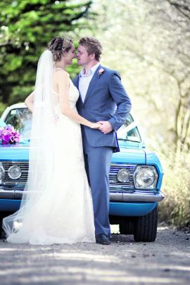 Ben and Lisa Patston, who were married in Oamaru in January. RACHAEL KELLY PHOTOGRAPHY.