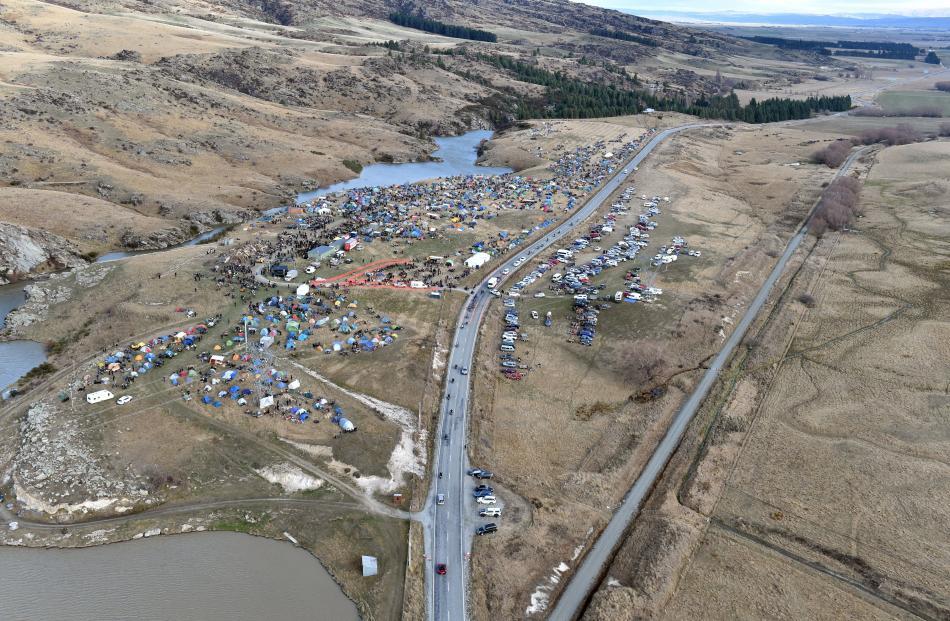 The rally's Idaburn Dam site, near Oturehua.