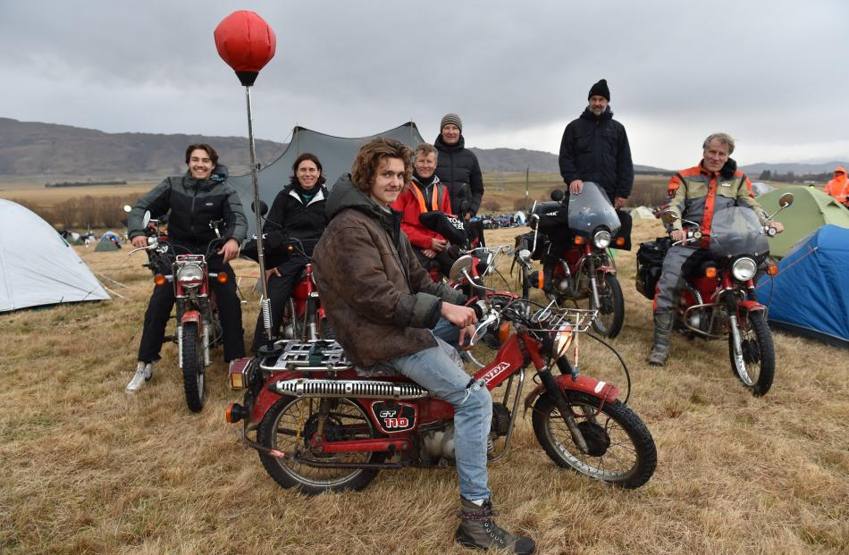 Ben (centre) and (from rear left) Bo, Lindy, Bert, Hans, Rolls and Maartin Hofmans, from...