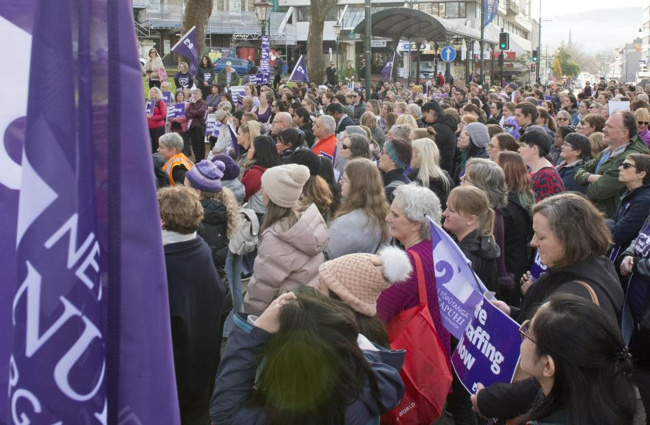 New Zealand Nurses Organisation members walked off the job at 11am, after talks to settle their...