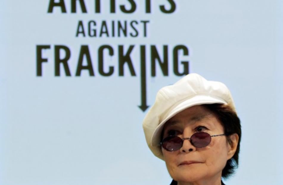 Yoko Ono attends a news conference launching Artists Against Fracking in New York. REUTERS...