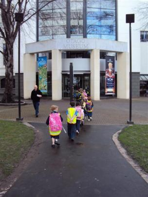Pupils of Elmgrove School head to the museum for an educational sleep-over. Photos by ODT/supplied.