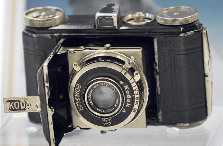 The Kodak camera taken by Sir Edmund Hillary to the top of Mt Everest. Photos by ODT/supplied.