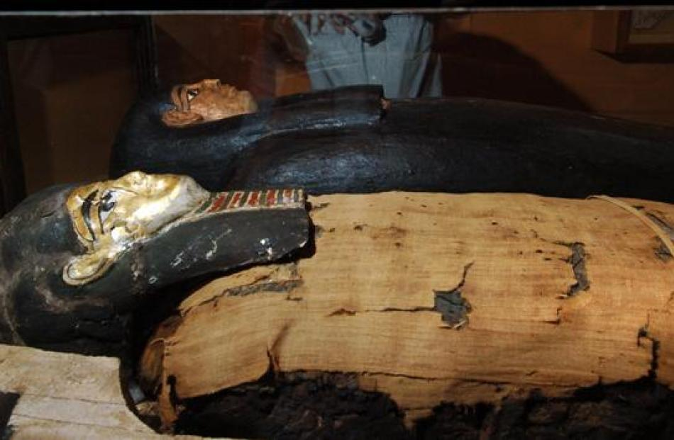 The museum's 2400-year-old Egyptian mummy is the only one in New Zealand. Photos by ODT/supplied.