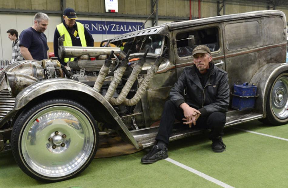 David Jeffery, of Christchurch, turned heads with his hot rod creation which is also road legal.