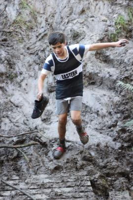 Longford Intermediate School pupil DJ Boyes. competing in the 13-year-old boys race, came across...