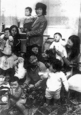 Cambodian refugees resettled in new Zealand gather with their Dunedin-born children in the 1980s....