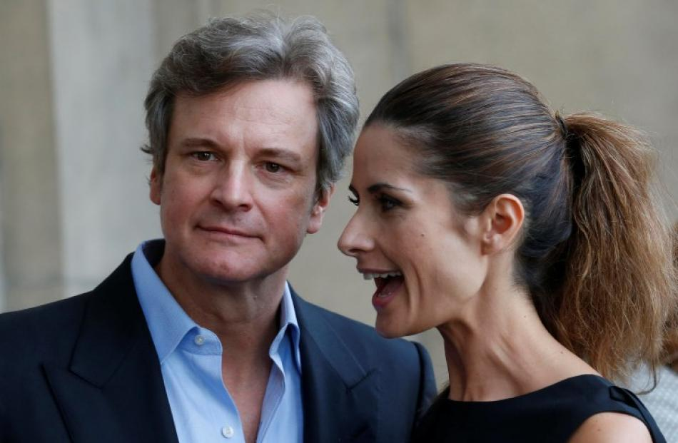 British actor Colin Firth joins his wife Livia Firth at a London Fashion Week cocktail reception....