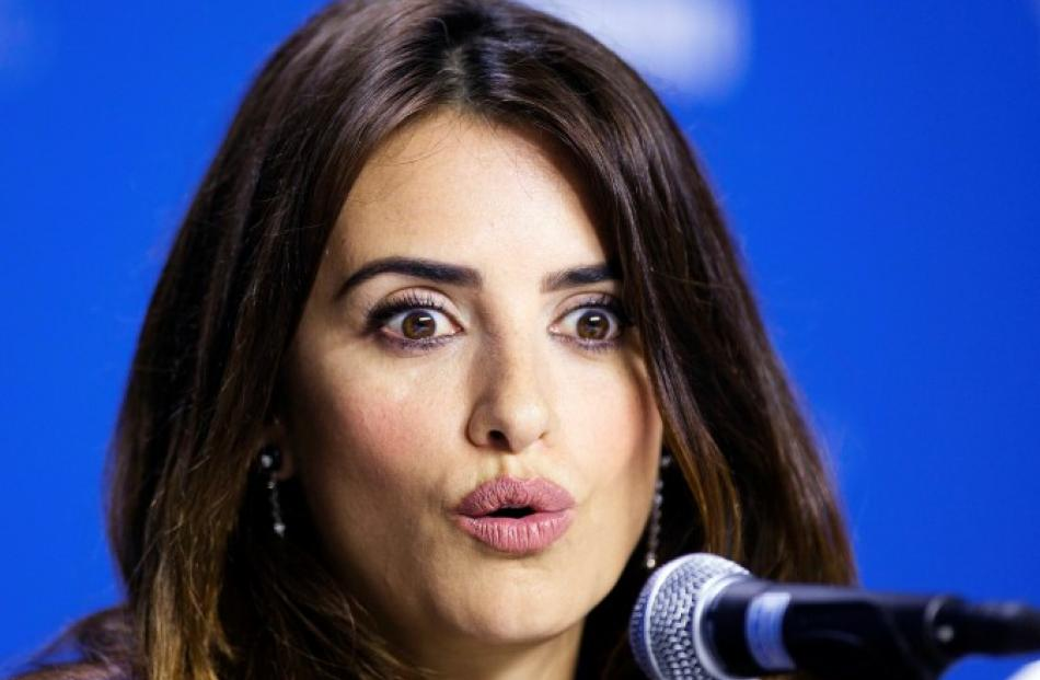 Penelope Cruz speaks during the news conference for 'Twice Born' at the 37th Toronto...
