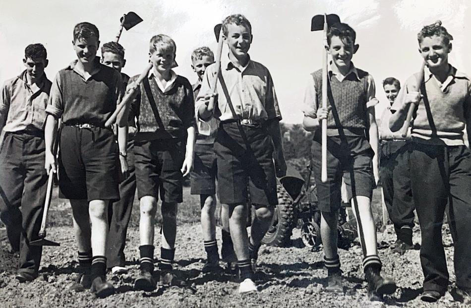Pupils take part in rural courses at the school  about the 1940s .PHOTO: TAIERI COLLEGE