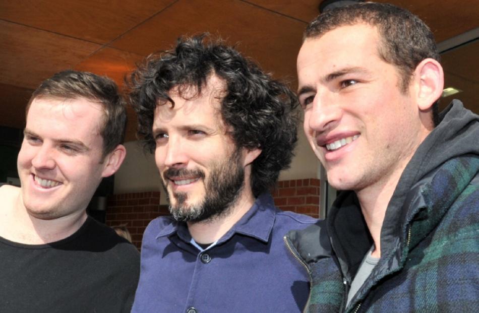 McKenzie with James Leggett  and Tim Haden (both 21).
