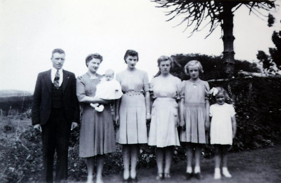 The Copland children (from left) Guthrie, Betty holds Ivy, Loris, Margaret, Rosalie and Alisa....