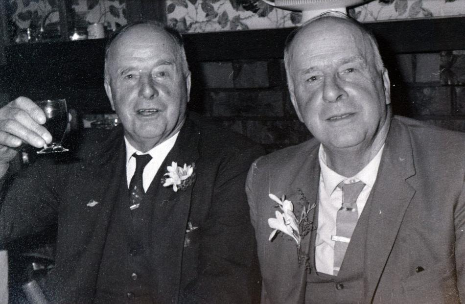 Twin brothers Watt (left) and George Copland.