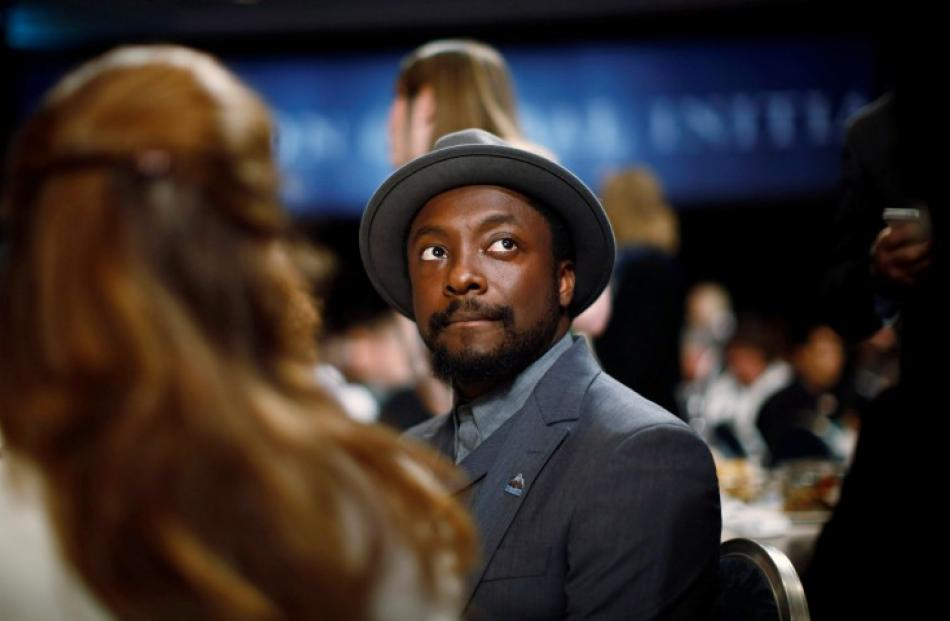 Entertainer will.i.am attends the Clinton Global Initiative in New York. REUTERS/Jason Reed