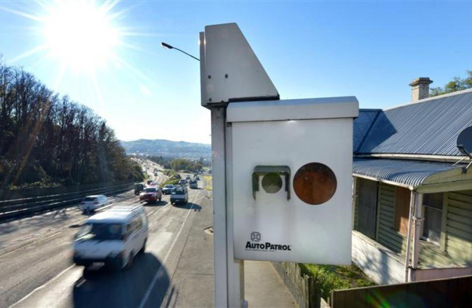This Caversham Valley Rd speed camera caught the most speeding motorists in the South Island...