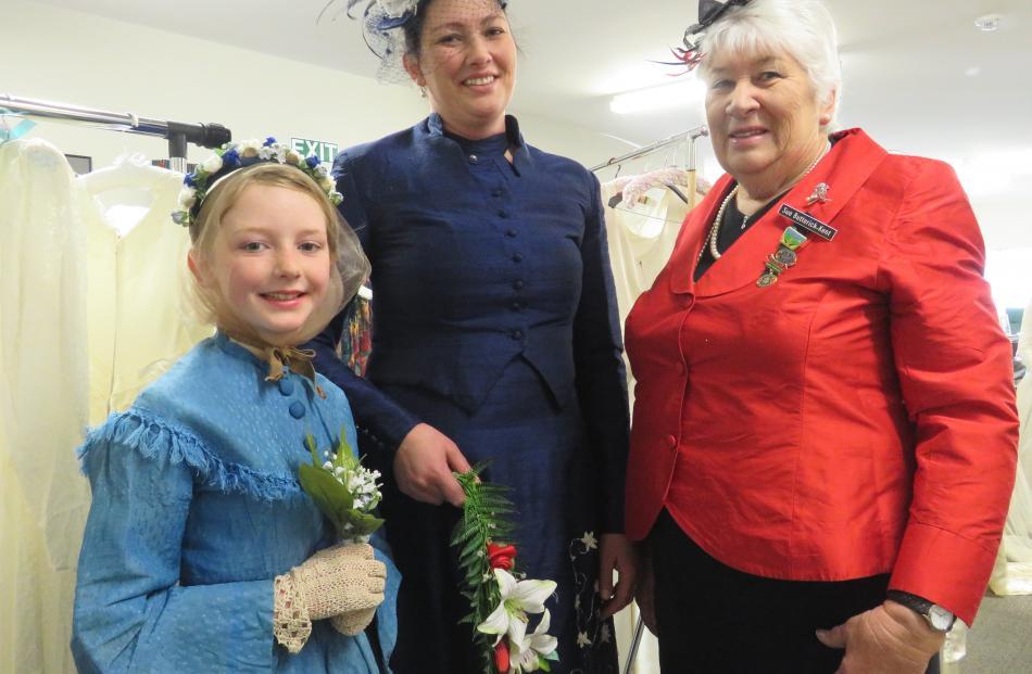 Nine-year-old Amelia Brockhurst, mother Emma Brockhurst and grandmother Sue Butterick-Kent, both...
