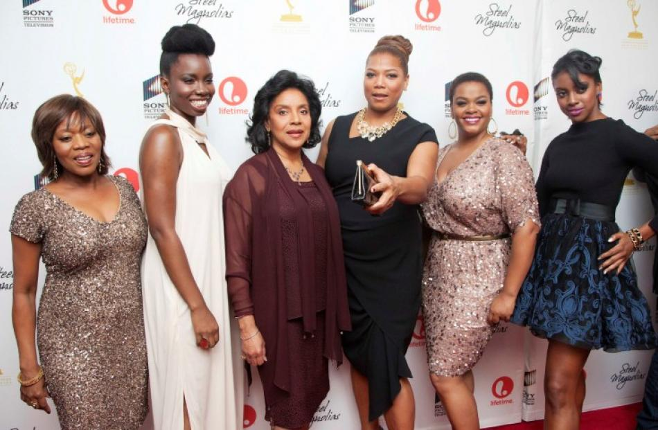 Cast members (L-R) Alfre Woodard, Adepero Oduye, Phylicia Rashad, Queen Latifah, Jill Scott and...