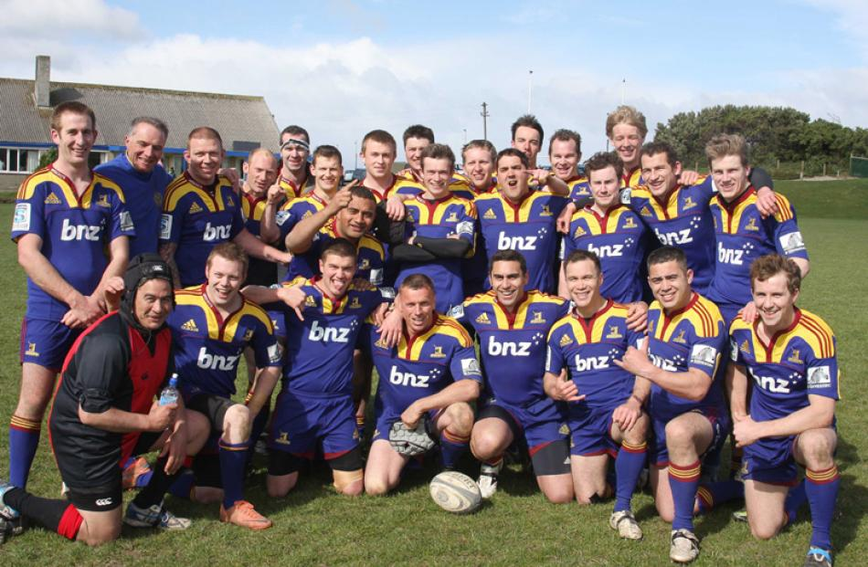 The winning 4th Otago-Southland Battalion Group rugby team.