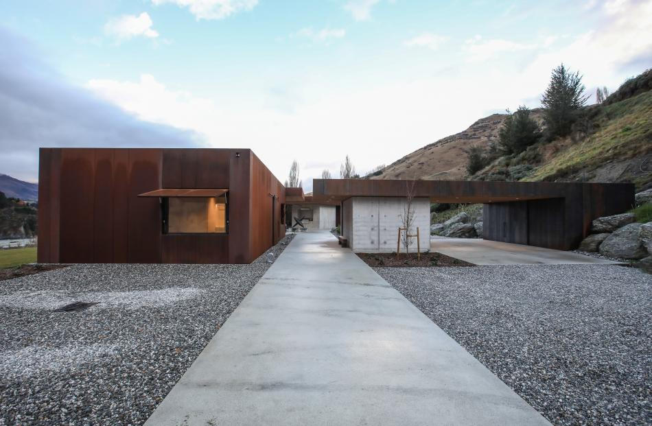 The Corten steel facades are a nod to the colours of the surrounding landscape.