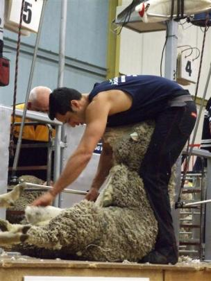 Charlie O'Neill, of Alexandra, made it into the New Zealand Merino Shearing Championship open...