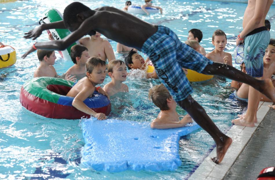 Fun in the water.