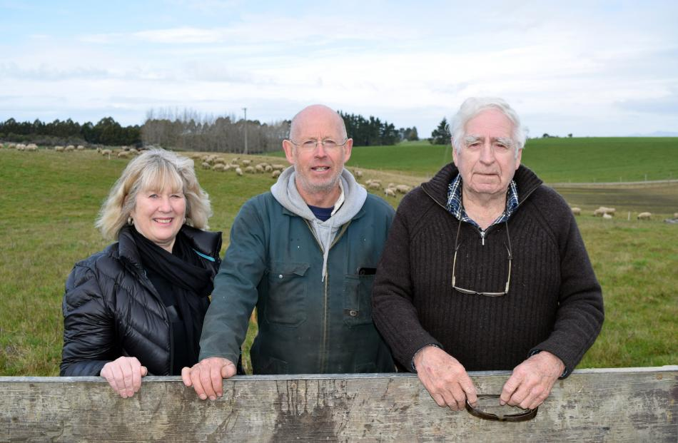 The Lawrence family including (from left) Sue, Mark and  Ray have farmed on the same land in...