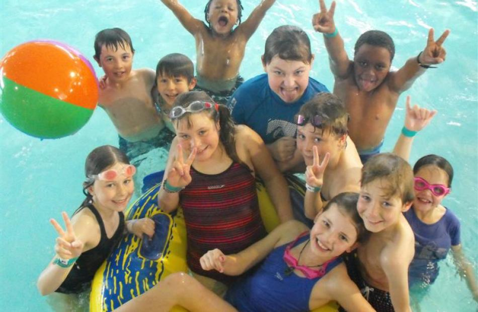 There was fun to be had in the pool on Tuesday in the Lakes Leisure school holiday programme.